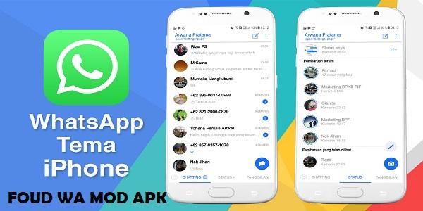 Download RC Fouad WhatsApp iOS Mod Apk Versi 7.81 Terbaru 2019