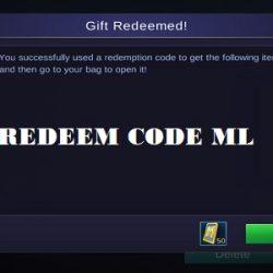 Kumpulan Redeem Code ML (Mobile Legends) Gratis