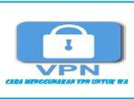 Cara Menggunakan VPN Untuk WA