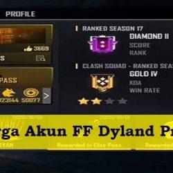 Harga Akun FF Dyland Pros